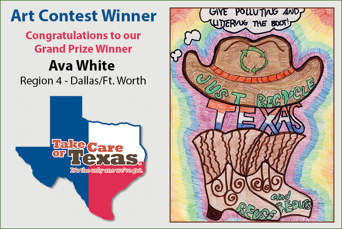 Taking care of Texas Art Contest Winner