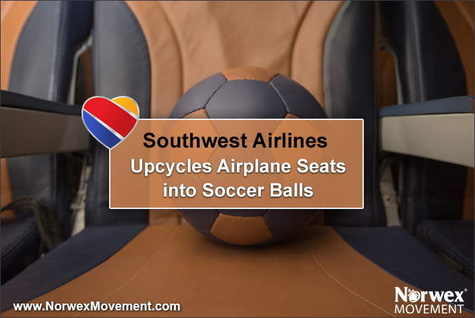 Southwest Airlines Upcycles Airplane Seats into Soccer Balls