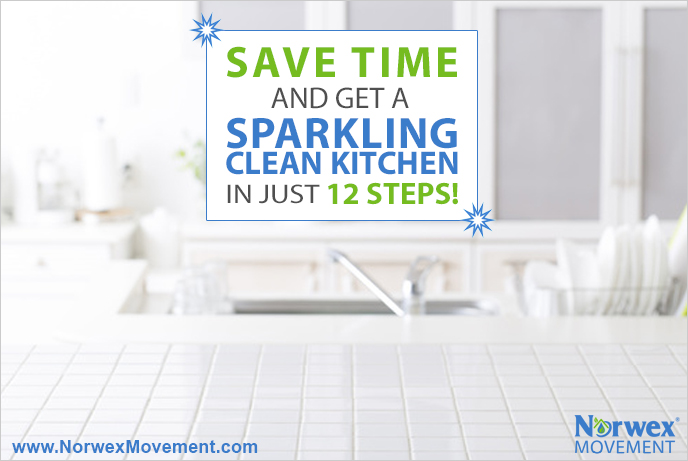 Save Time and Get a Sparkling Kitchen in Just 12 Steps!