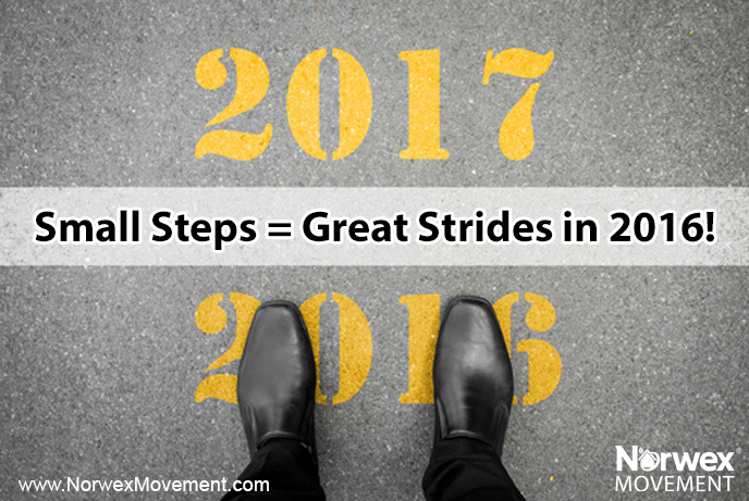Small Steps = Great Strides in 2016!