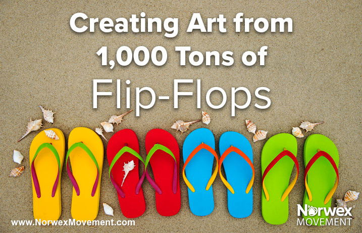 Creating Art from 1,000 Tons of Flip-Flops