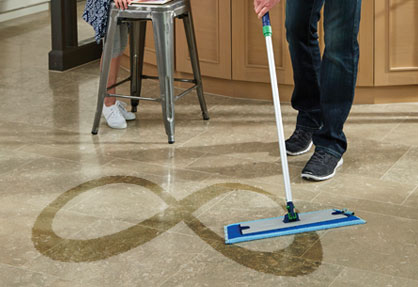 Mopping in figure-8 mopping method