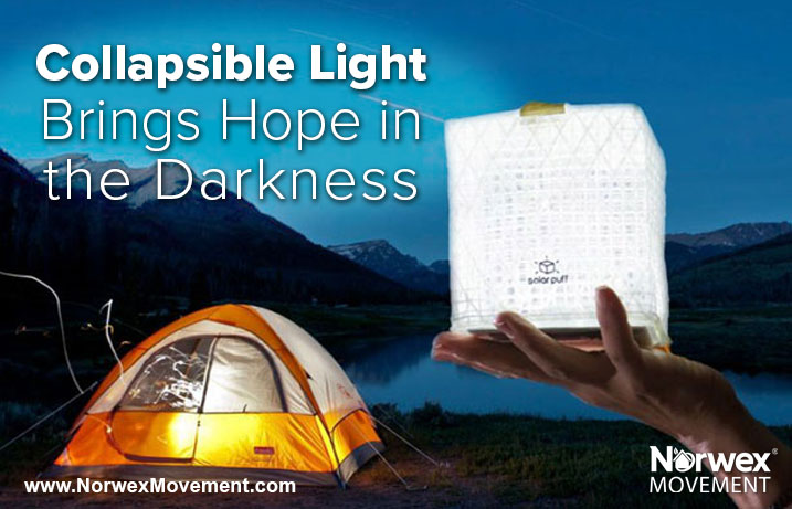 Collapsible Light Brings Hope in the Darkness