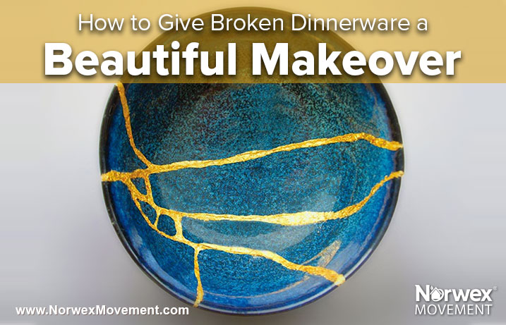 How to Give Broken Dinnerware a Beautiful Makeover